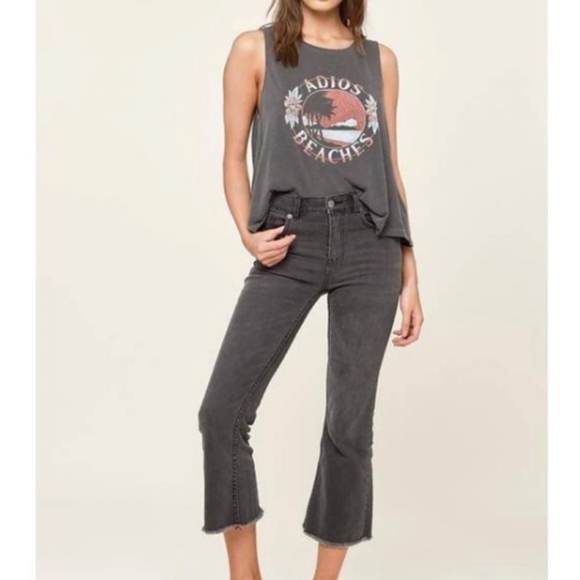 Amuse Society Denim - Amuse Society Coastline Cropped Flare Jeans